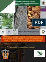 Determinacion de Las Caracteristicas Fisicas, Mecanicas, Anatomicas y Usos Recomendados Para La Madera de Mezquite