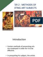 ways of presenting art subject