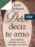 Gelman Juan - Debí Decir Te Amo