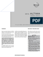 2012 Altima Owner Manual