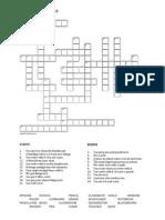 School Things Crossword