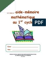 Maths Aide-Memoire 1er Cycle-3