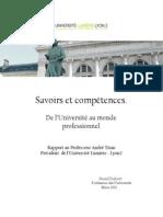 Savoirs et compétences Rapport final 260412