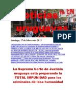 Noticias Uruguayas Domingo 17 Febrero Del 2013