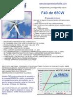 Informacion Básica Aerogenerador 650W
