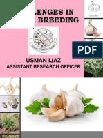 challenges in garlic breeding