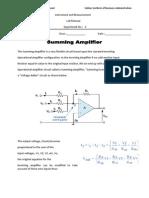 Lab Summing Amplifier