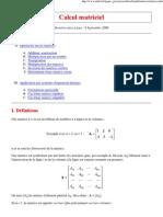 Calcul matriciel