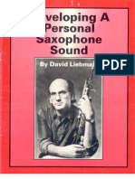Liebman, David - Developing a Personal Saxophone Sound