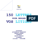 150 lettres pour régler des litiges