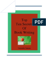 Free Guide Top Ten Secrets of Book Writing Naren Simone