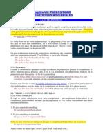 Les prépositions et particules adverbiales
