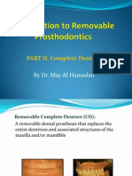 Introduction to Complete Denture