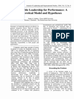 Responsible Leadership for Performance a Theoretical MODEL and Hypotheses