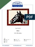 Horse Cross Stitch Pattern (Color Detail)