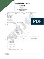 Kvpy Paper Xi