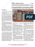 368 - BIG NEWS Obama Waives Bush Law Banning Child Soldiers