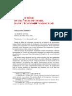 مكانة القطاع اللاشكلي ودوره في اقتصاد المغرب