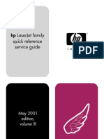 HP LaserJet Family Quick Reference Service Guide Volume III