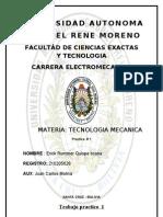 Trabajo Practico 1 de Tecnologia Mecanica