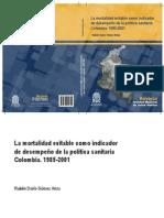 La mortalidad evitable como indicador de desempeño colombia 85-2001