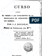 Rousseau, Jean Jacques - Discurso Sobre Origen de La Desigualdad Entre Los Hombres (1820)