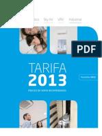 Tarifa Daikin 2013