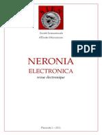 Neronia Electronica Fascicule 1