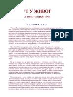 Lav Nikolajevič Tolstoj - Put u život