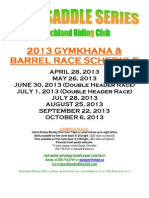 2013 Saddle Series Info Package