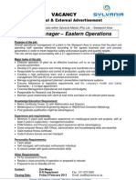 Plant Manager - 24 Jan '13