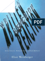 Eliot Weinberger Written Reaction Poetics Politics Polemics 1979-1995 1996
