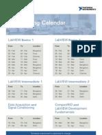 NI Training Calendar Feb to Apr, 2009