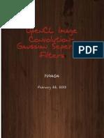 OpenCL Heterogeneous parallel program for Gaussian Filter