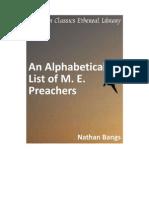 AN Alphabetic list of M.E Preachers List!!