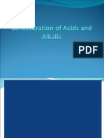 Conc of Acids n Bases