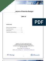 Interim Budget 2009-10