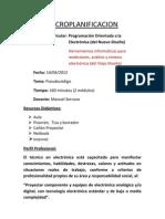 Microplanificacion Programacion PseudoCódigo-- Manuel Serrano