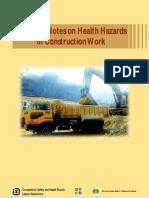 guidance notes on health hazard in construction work