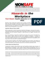health hazards in construction sites