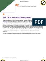 SAP CRM Territory Management