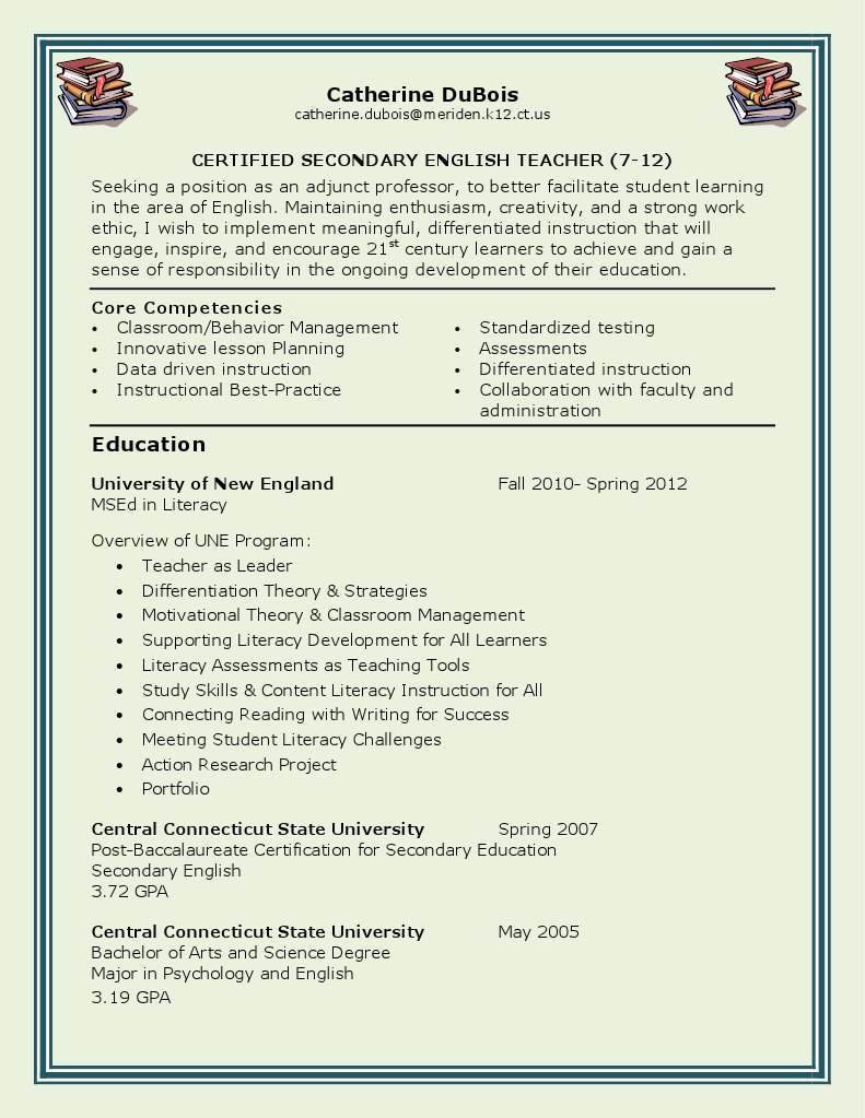Kates Resume College Differentiated Instruction Teachers