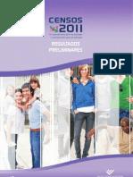 CENSOS 2011 - RESULTADOS PRELIMINARES (PORTUGAL) [INE]