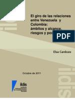 El Giro de Las Relaciones Entre Venezuela y Colombia