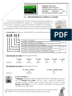 Sistema decimal - decomposição em ordens e classes