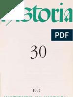 Revista Historia n 30, 1997