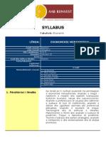 Syllabus Ekonomiksi Menaxherial 2011