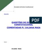 Apostila Questoes de Direito Constitucional Comentada Por Juliana Maia
