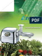 Manual de Juguera de Acero Angel Juicer