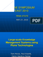 Large-Scale Knowledge Management Systems Using Plone Technologies - Tom Moroz- Paul Everitt- And Calvin Hendryx-Parker